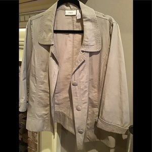 CHICO'S Basic Khaki Colored Jacket size Large (2)